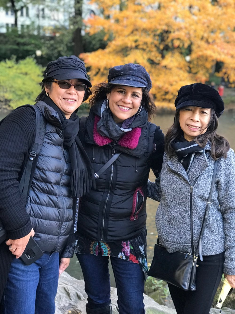 Teresa, Cindy and Zeny at Central Park