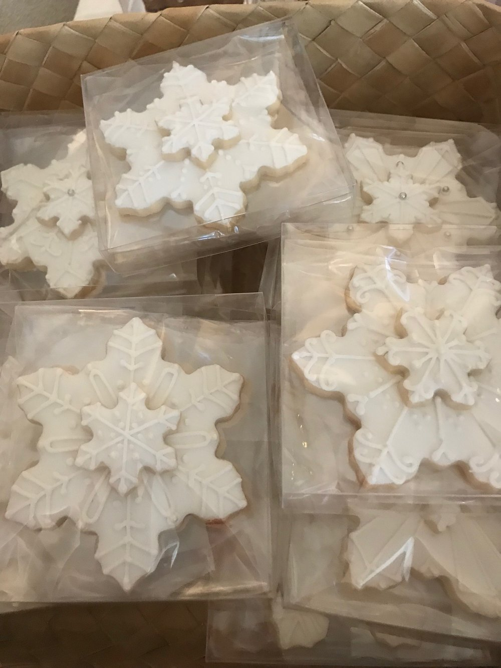 Snowflake Cookies by Zoe, Hawaii