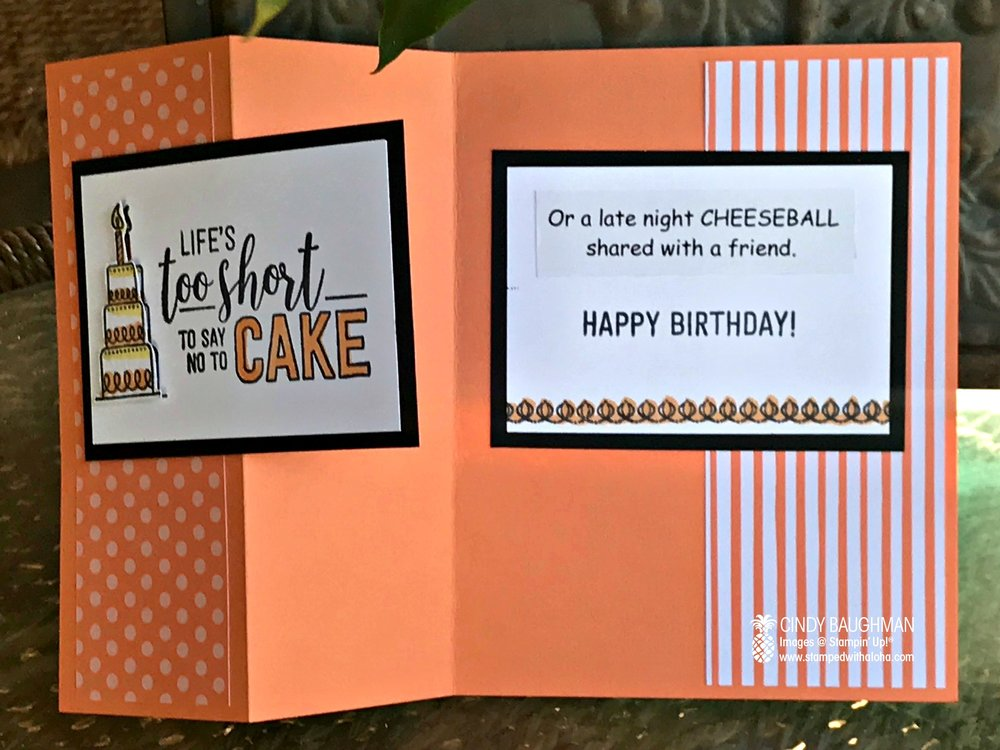 Amazing Life Birthday Card (inside)