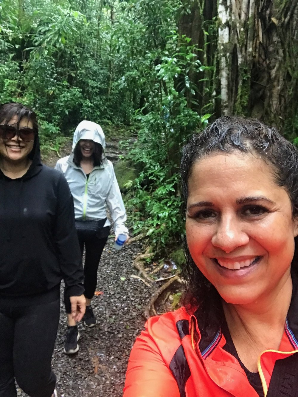 HIking in Manoa Falls