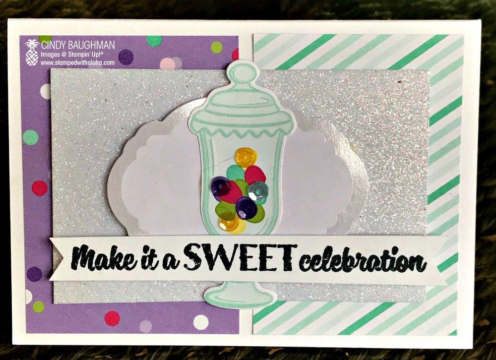 How Sweet it Is Celebration Card - stampedwithaloha.com