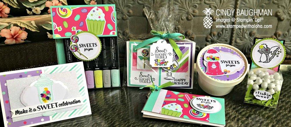 Sweet Celebration Projects - www.stampedwithaloha.com
