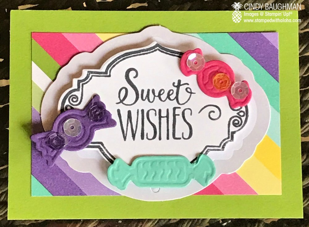 Sweet Wishes Card Candy - stampedwithaloha.com