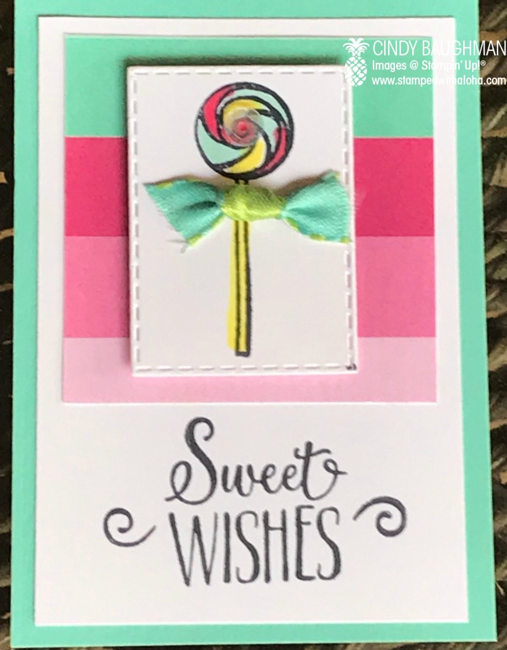 Lollipop Card Candy - stampedwithaloha.com