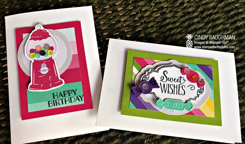 Card Candy Cards - stampedwithaloha.com