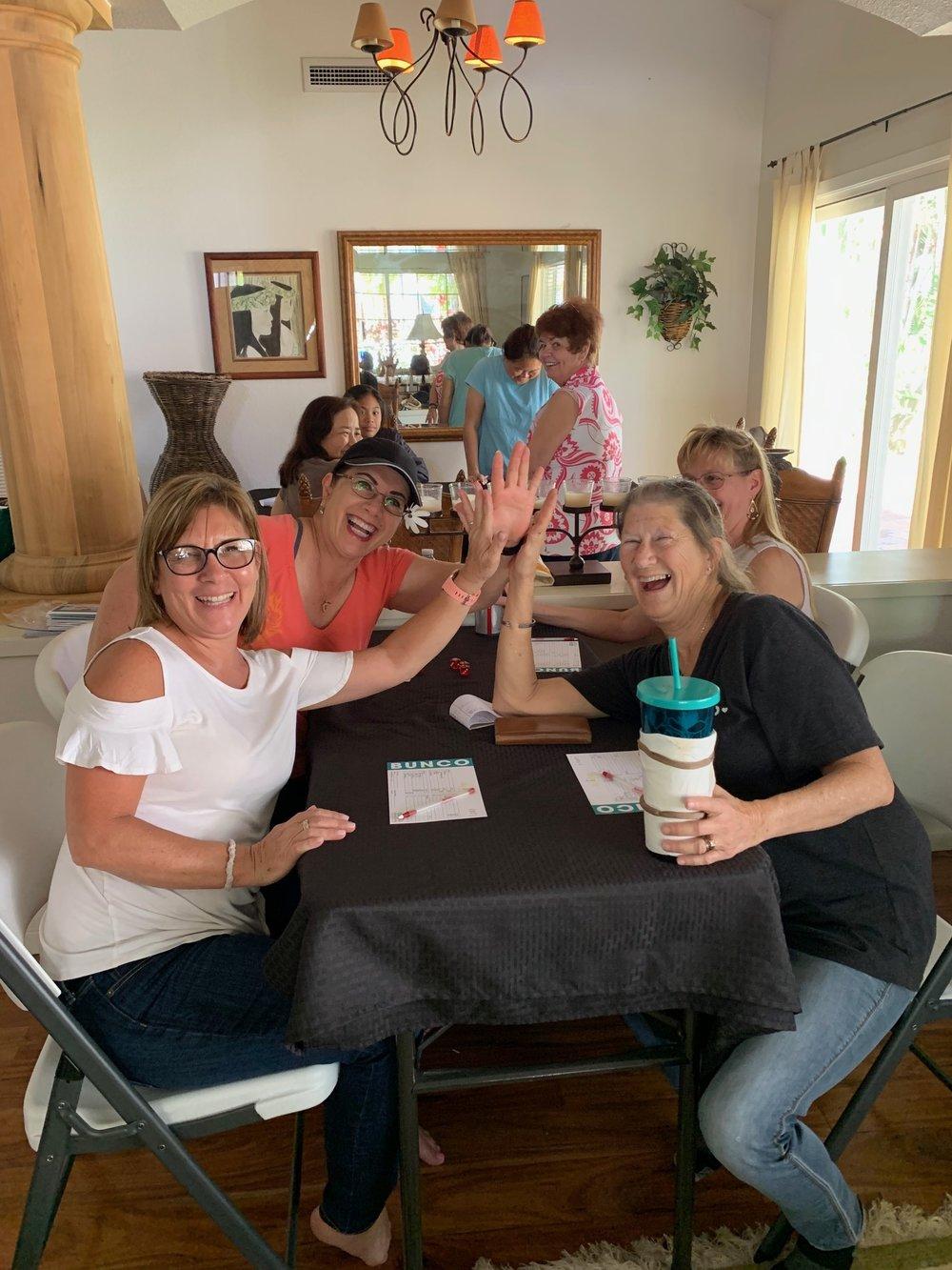Bunco Fun with 3 Lori's