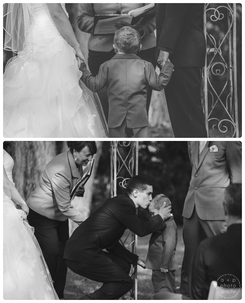 And sweet moments between the groom Ryan and his son.