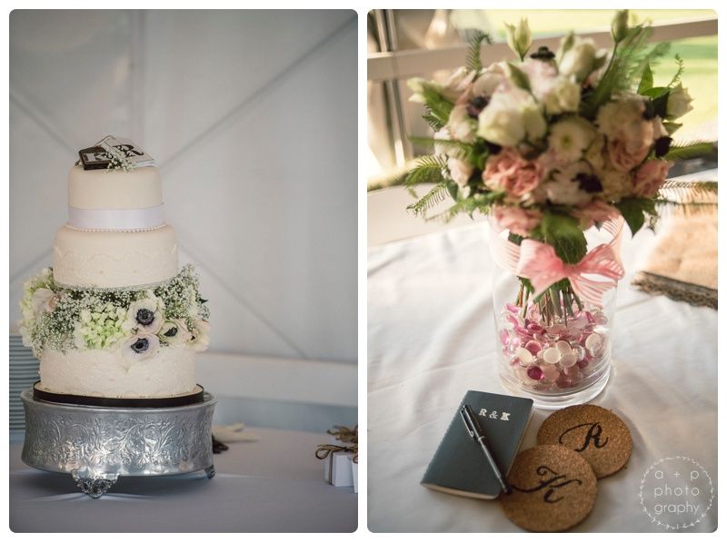 The cake had lace accent details and a gorgeous tier of flowers that matched the bouquets. Ryan and Katie left little notebooks at each table in lieu of a guest book for people to write advice and well-wishes.