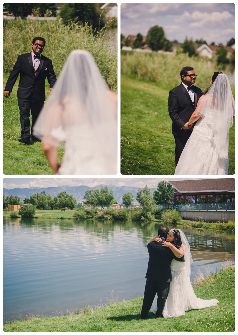 Beautiful first look on the shore of the lake.