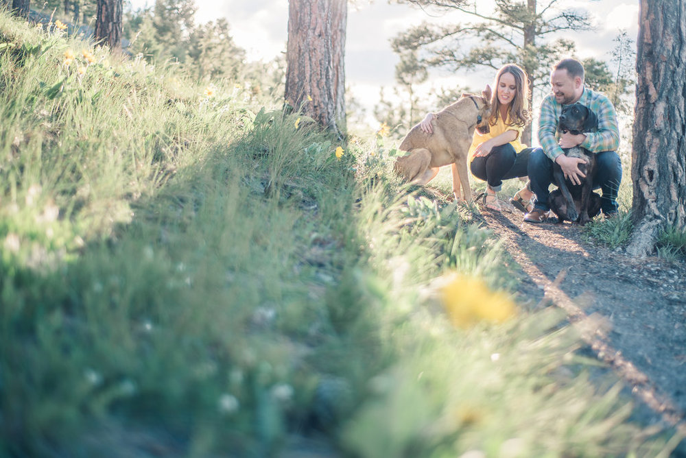 Montana Engagement Session with dogs