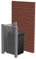 L shape hide-a-bin system
