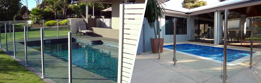 Aluminium and stainless steel semi-frameless pool fencing systems