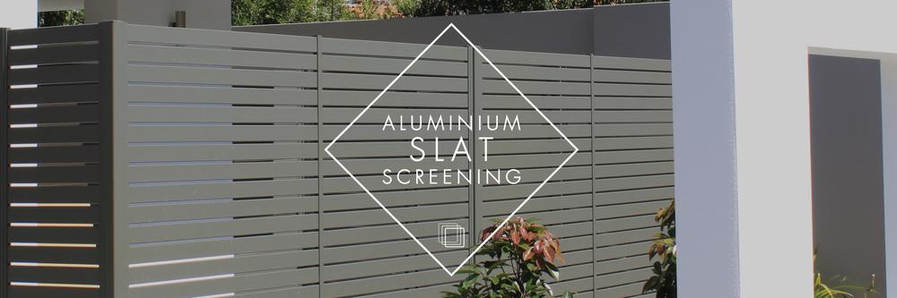 Aluminium slat screening systems: Quickscreen, Alumawood & Xpresscreens