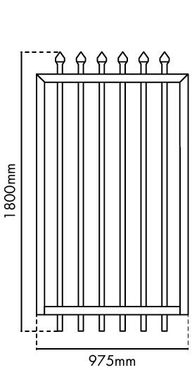 1800mm H x 975mm W Zeus gate panel