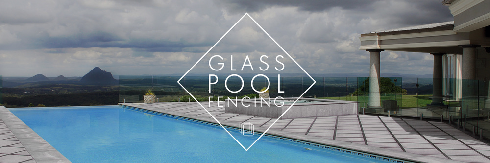 Infinity pool with frameless glass pool fencing and stainless steel core drill spigots