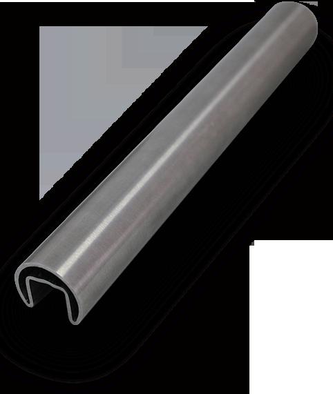 Slimline round top glaze stainless steel handrail