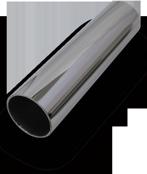 Slimline round offset stainless steel handrail