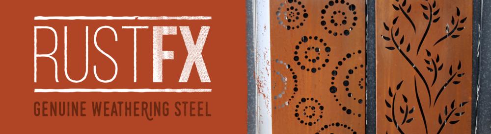 RustFX genuine weathering steel decorative screens