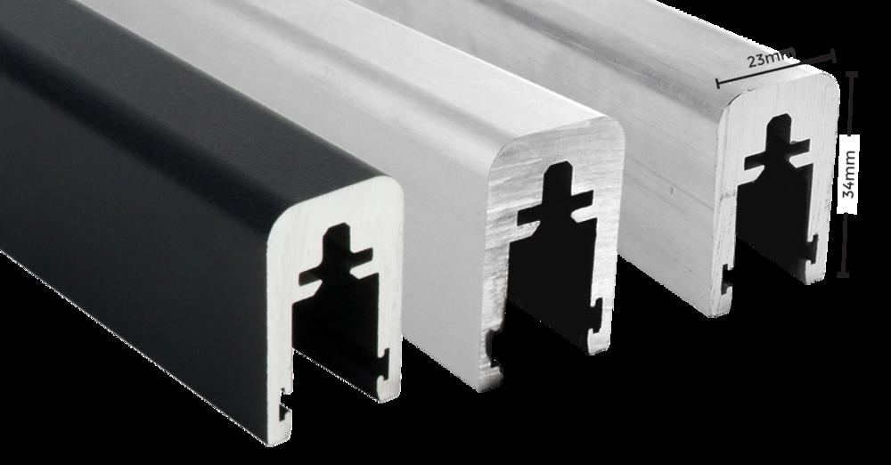 Florida slimline top glaze aluminium handrail
