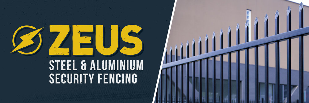 Zeus security fencing - Steel and aluminium ranges available