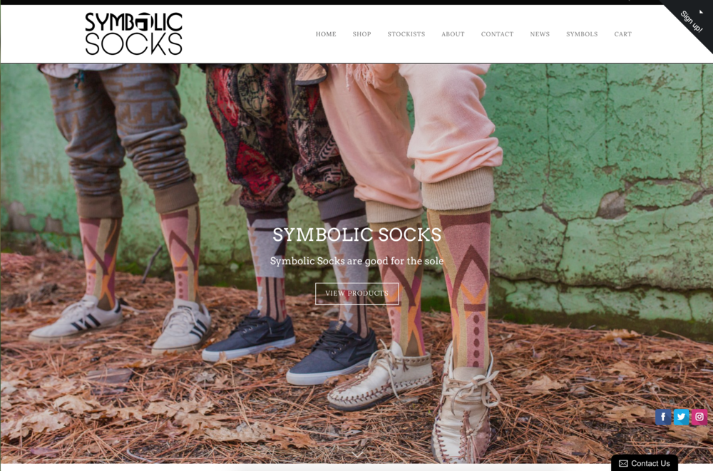 SYMBOLIC SOCKS | LIFESTYLE BRAND   Web-design, styling and graphic design