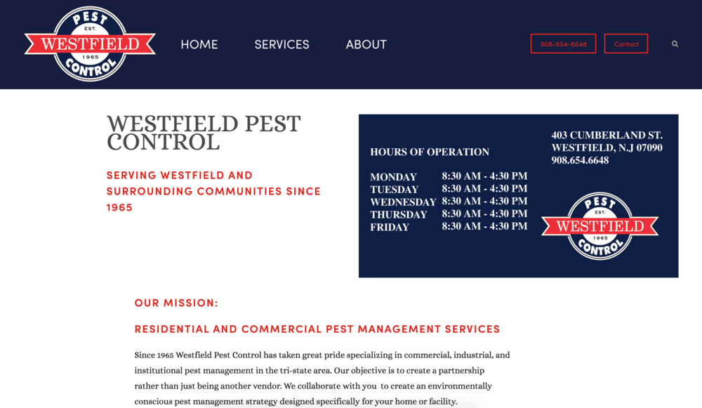 WESTFIELD PEST CONTROL | PEST MANAGEMENT SERVICES   Web-design, graphic design