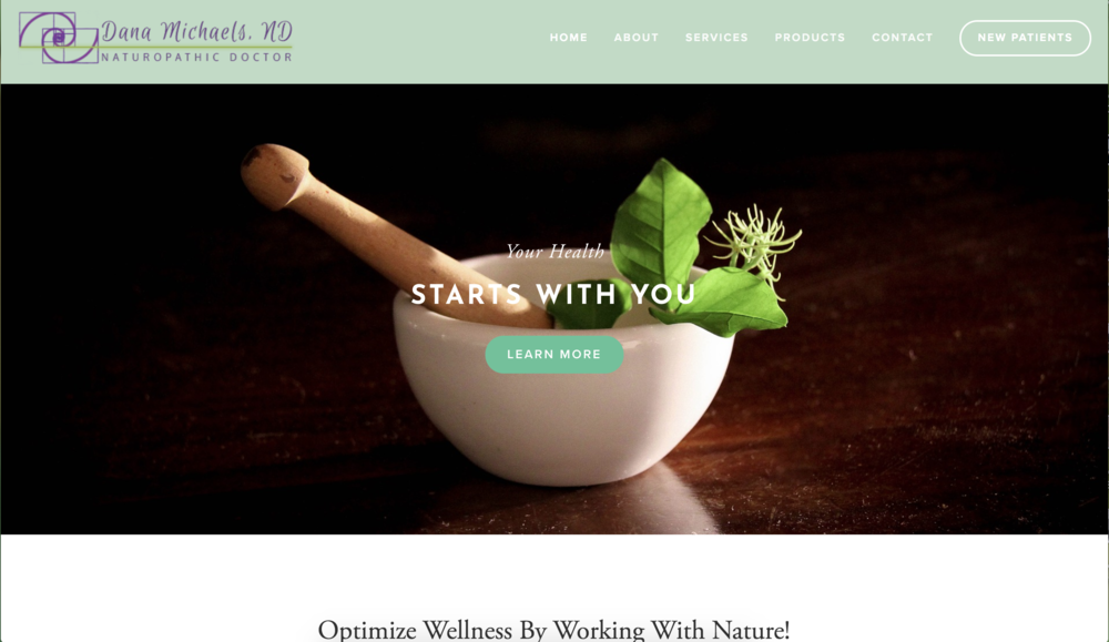DR. DANA MICHEALS | NATUROPATHIC MEDICINE   Web-design, graphic design for web