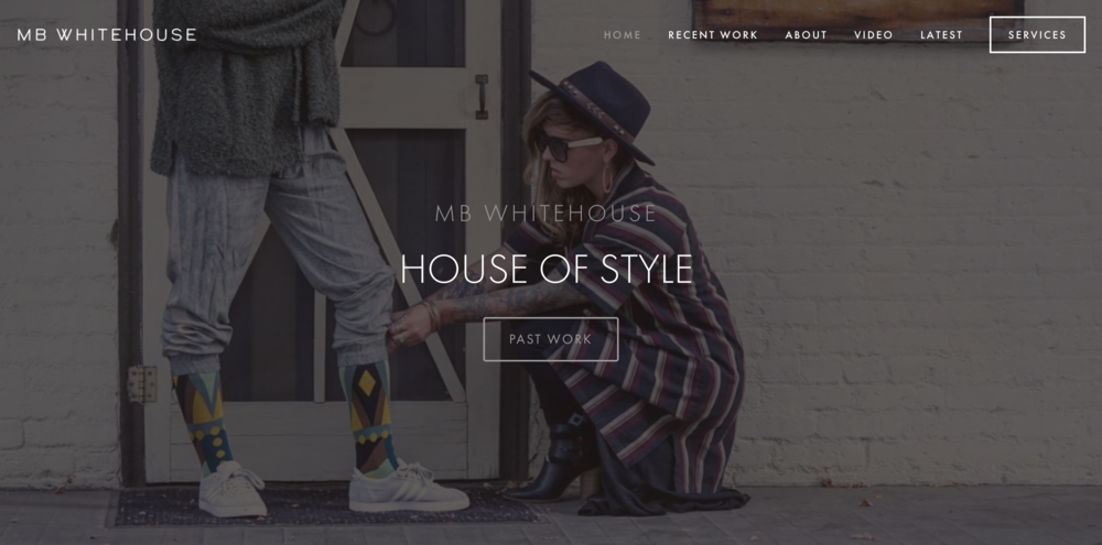 MB WHITEHOUSE   STYLIST    Website design, and layout