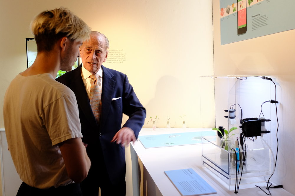 Presenting the technical prototype to the Duke of Edinburgh