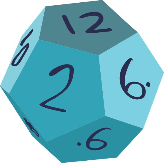 blue d12