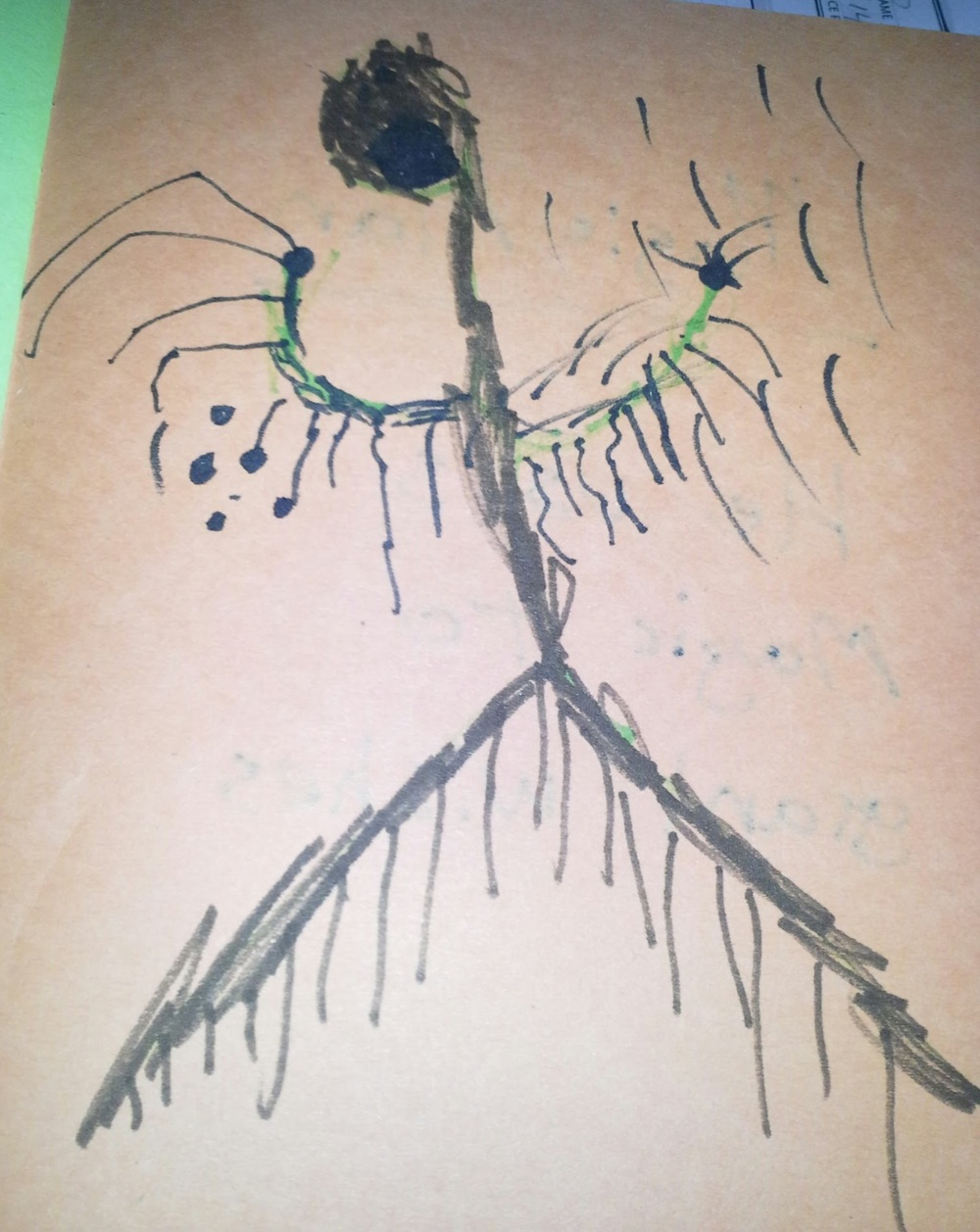 The Mummy she drew for her monster book.