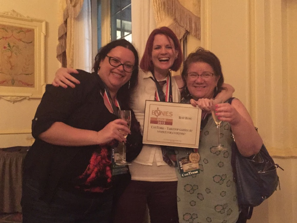 Sarah, Stacy, and Ethel (Thanks to Monte Cook Games for the Champagne!)
