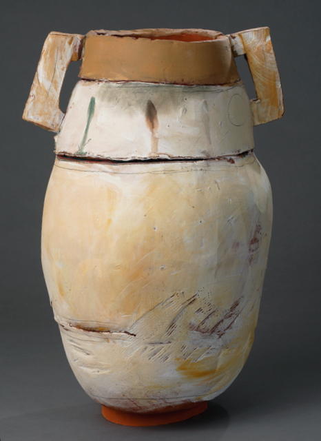 "Large Pot w/ rutile rim, 23""x18"" diameter, 2013"