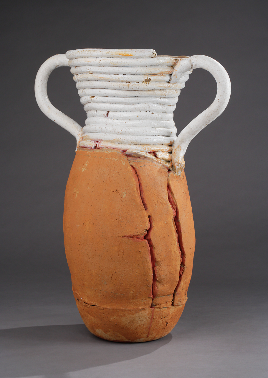 "Large Pot w/ White Coils, 29""x25"" diameter, 2015"