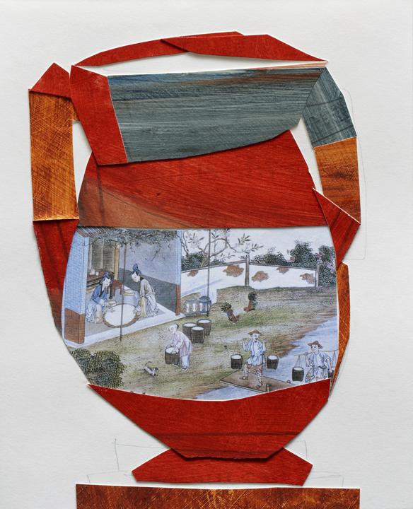 "Sifting Glaze, MixMedia on Paper, 10""x11"", 2009"