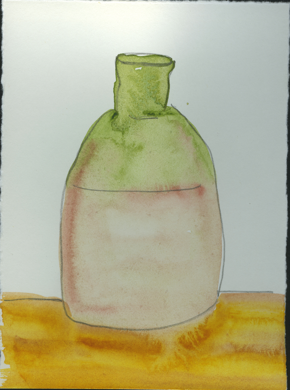 """Bottle with Terracotta Base, 7""""x9"""", 2010"""