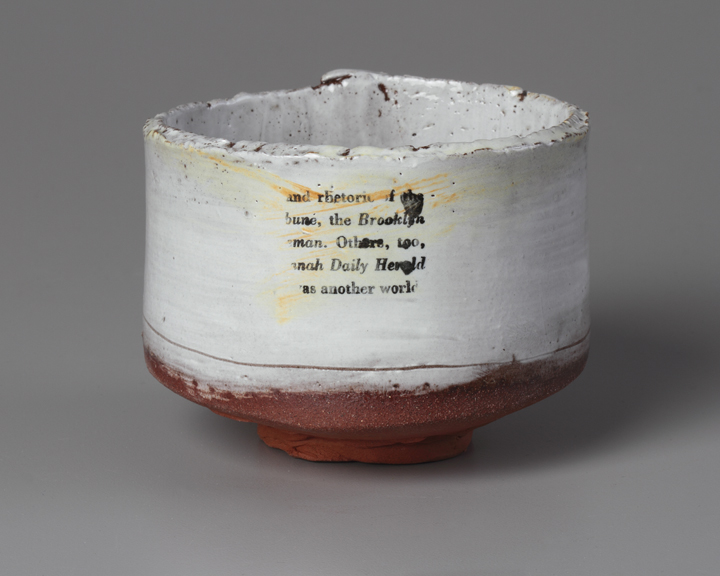"Teabowl with Text, 3""x4"" diameter, 2015"