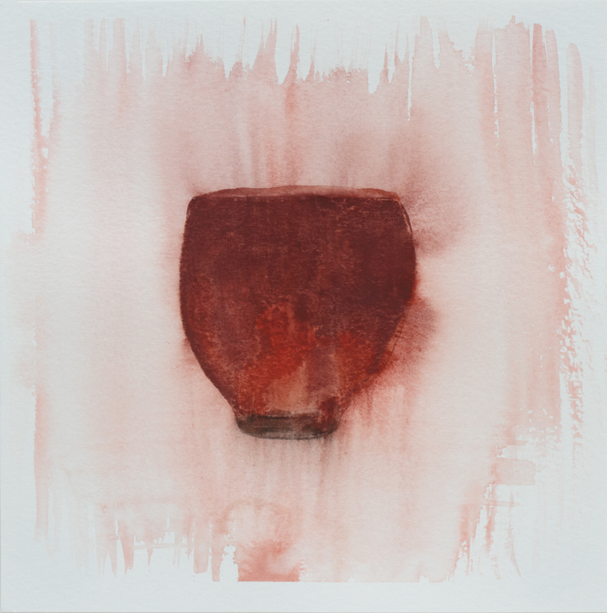 "Teabowl, Copper Red 2, 8""x8"", 2016"