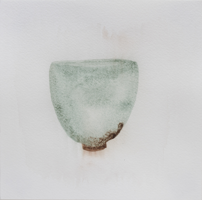 "Teabowl, Kwai Blue Celadon, 8""x8"", 2016"