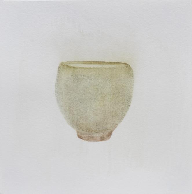 """Teabowl, Olive Celadon, 8""""x8"""", 2016"""