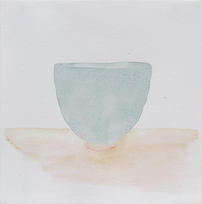 "Teabowl, Eunice's Blue Celadon, 8""x8"", 2016"