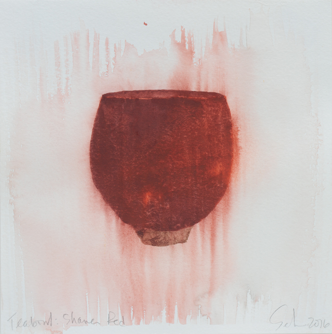 "Teabowl, Shaner Red, 8""x8"", 2016"