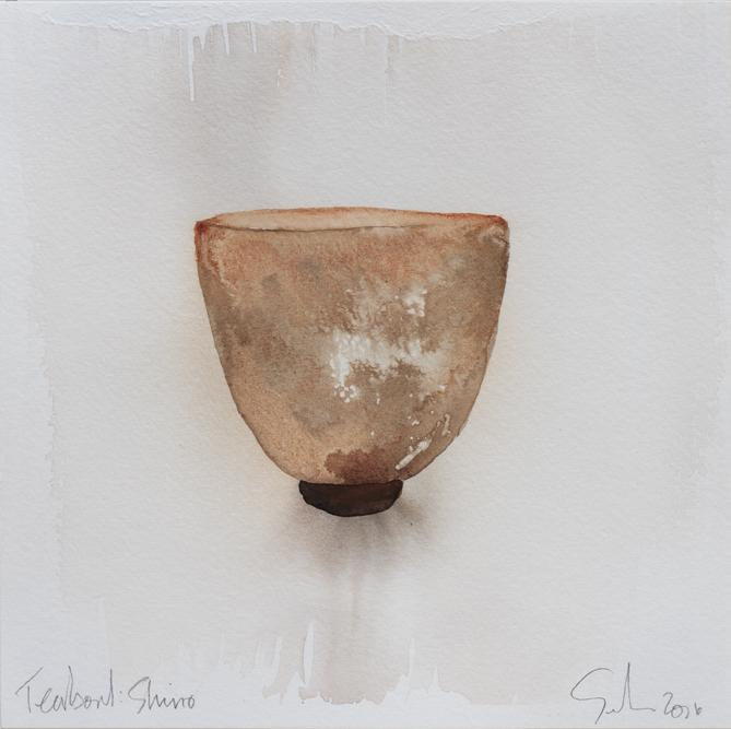 "Teabowl, Gustin Shino, 8""x8"", 2016"