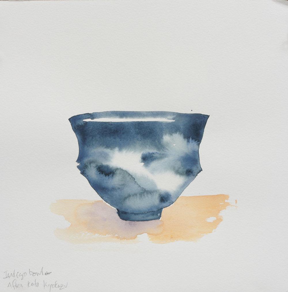"""Teabowl after Kato Kiyokazu, 12"""" x 12"""", 2017"""