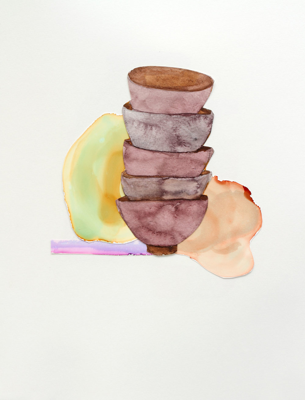 "Stacked Bowls, 9"" x 13"", 2017"
