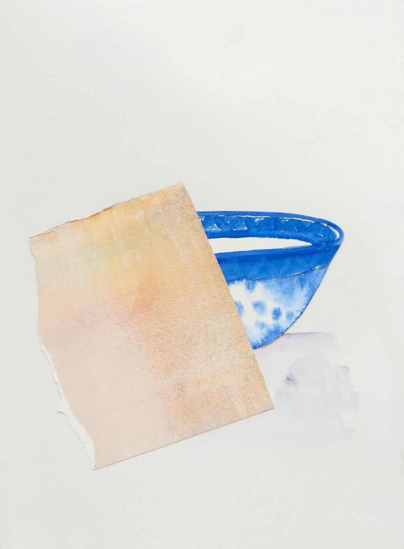 "Teabowl with Napkin, 9"" x 13"", 2017"