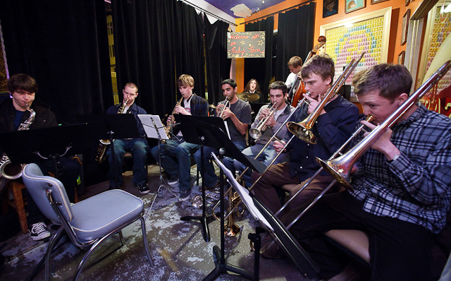 Andy Clausen's Split Stream Big Band (photo by Jim Levitt)