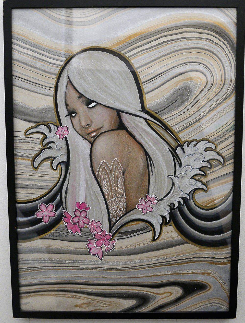 So Wavy by Coco - $250 - Pencil and Ink - W(21')XH(28') Framed.JPG