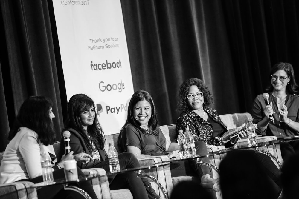 Selina Tobaccowala, Aarthi Ramamurthy, Heather Fernandez, Cheryl Contee and Lauren Schiller  Photo courtesy of Women In Product