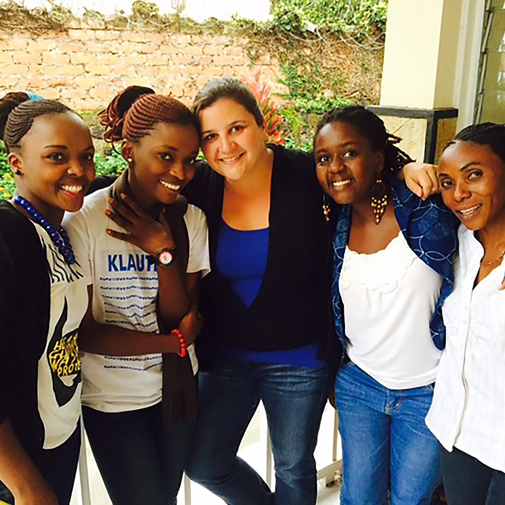 Photo credit: Brad Argo (Left to right): Mariam Aboubakar Esperance, Esther Nsapu, Cristi Hegranes, Noella Nyirabihogo and Merveille Kavira Luneghe.
